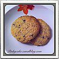 Cookies menthe chocolat, sans gluten, sans lactose