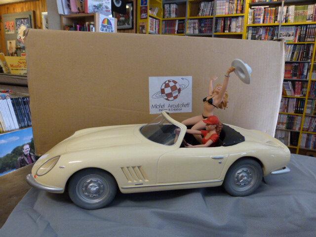 Cabriolet Aroutcheff/Démons et Merveilles/ Manara 2 personnages 999ex signé 49cm 2004