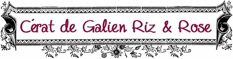 Cérat de Galien Riz & Rose