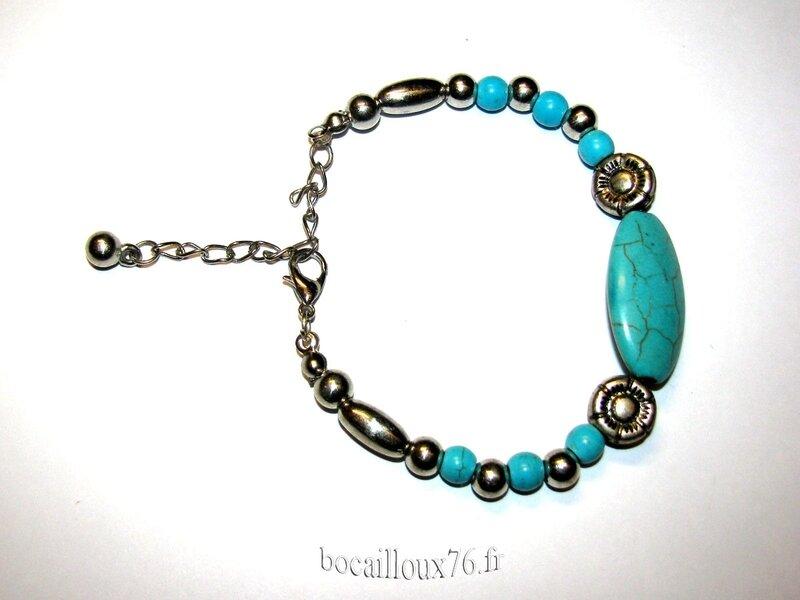 Bracelet HOWLITE Turquoise 8 (3)