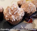 cupcakes aux deux chocolat et framboise