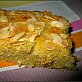 Gâteau à la rhubarbe et aux amandes weight watchers