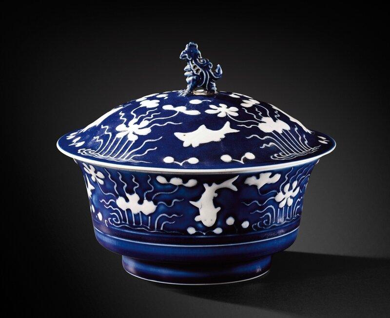 Bol en porcelaine émaillée bleu, Chine, marque et époque Yongzheng (1723-1735)
