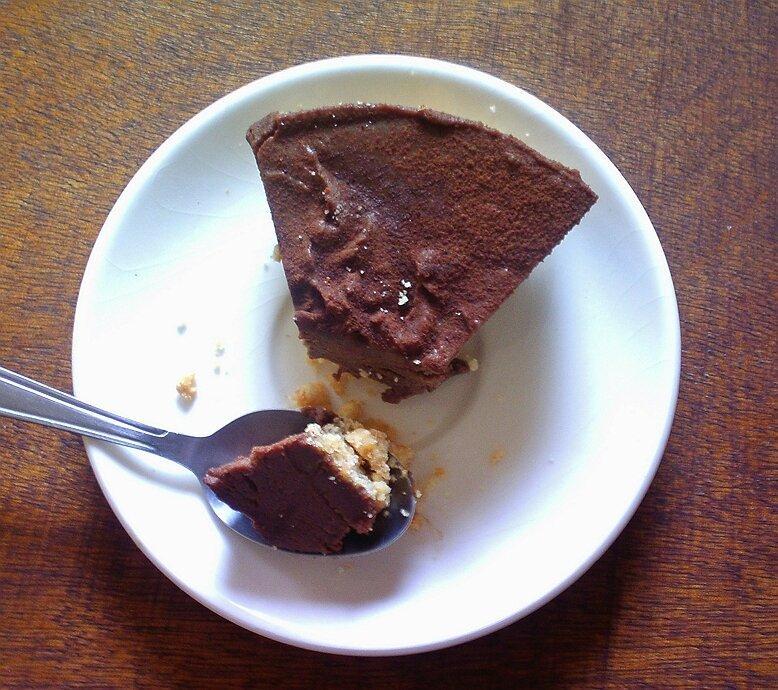 cheese cake au chocolat au caramel beurre salé sans cuisson