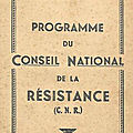 Le programme du conseil national de la résistance (cnr)