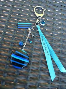 Bijoux de sac bleu