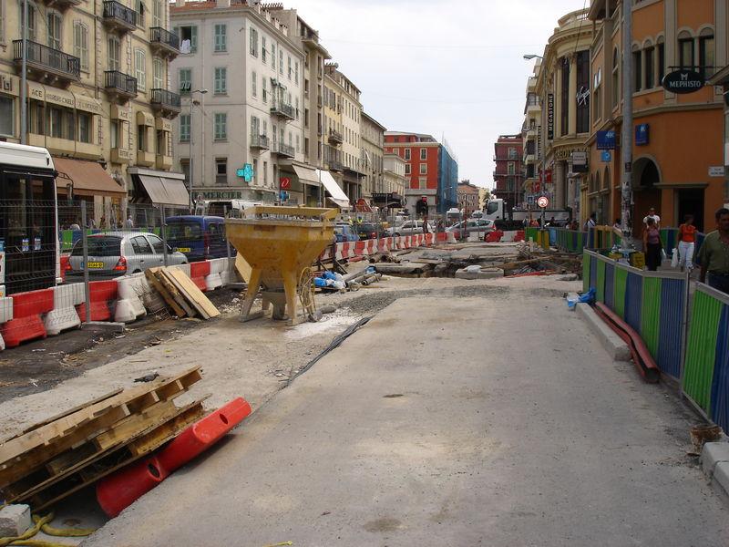 chantier u tramway de nice aout 2005 bisbis