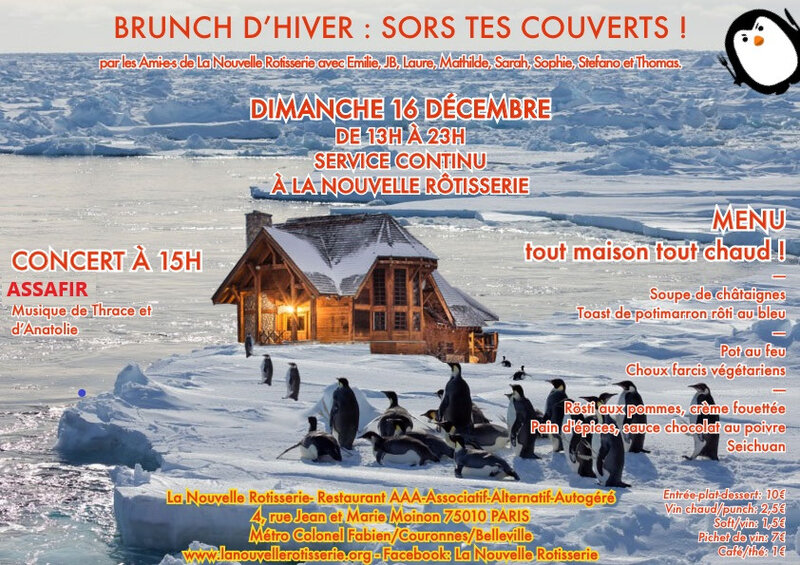 Affiche sors tes couverts(brunch 1812)