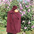 manteau de portage + doublure amovible mi longue (noir et rouge, prune et bordeau) (7)
