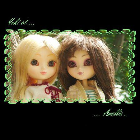 Amallia et Yuki en promenade