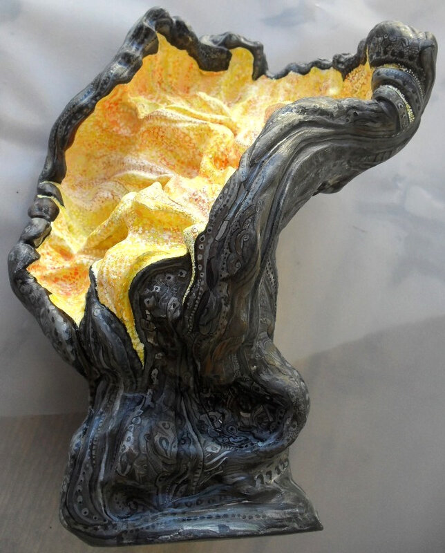 Hervé THAREL SCHMIMBLOCK'S prometheus 2012 - acrylique sur argile - 20,5cmx27cm (0)