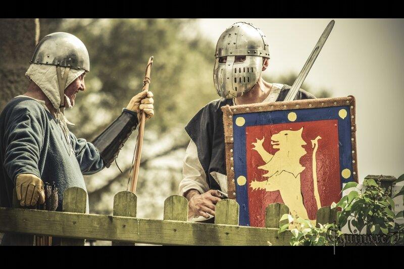 Savary de Mauléon, prince et seigneur de Talmond avec le mercenaire Lambert Cadoc archer gallois, chef de routiers au service de Philippe Auguste