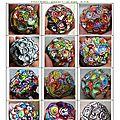 page 19 2014-TOTUM 1002 SCHMIMBLOCK'S petites boules – gouache T7 sur argile - ر5cm