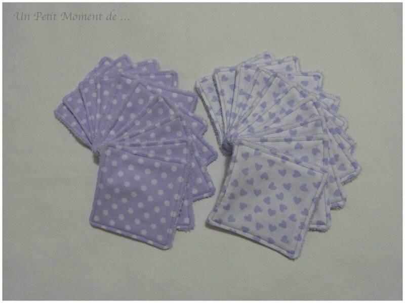Lingettes lavables violettes