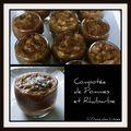 Verrine de compotée de pommes et rhubarbes
