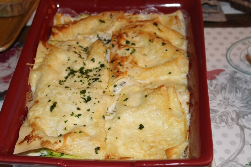 lasagnes courgettes fromages