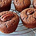 Muffins chocolat, noix de pécan et lait ribot (lait fermenté)