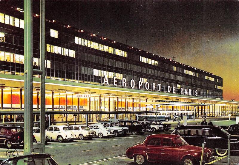 CPM Orly Aéroport Entrée aérogare