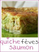 Quiche saumon fumé - fèves - index
