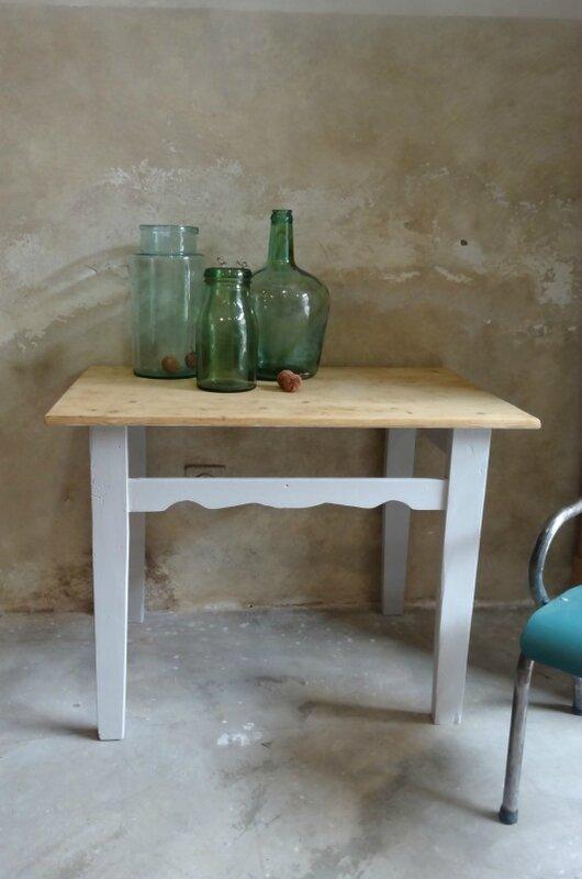 Table ancienne plateau brut 2