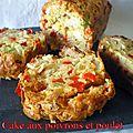 Cake aux poivrons et poulet