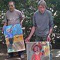 peintures réalisées et leurs auteurs
