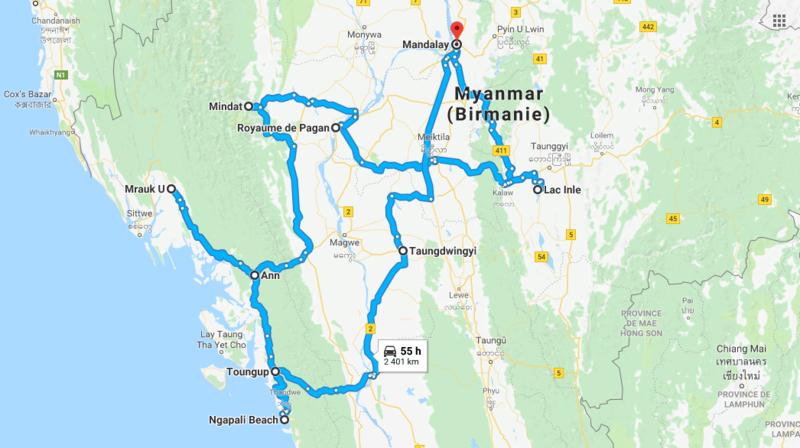 Parcours Myanmar
