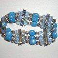 bracelets élastique bleu