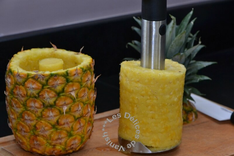 Couper ananas facilement, découpe ananas demarle