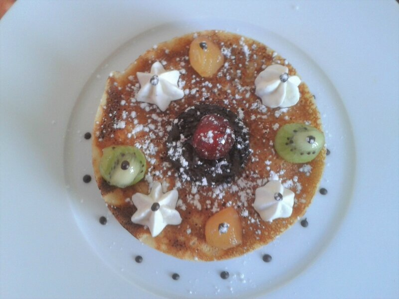 crêpes aux fruits et chocolat blanc (du chef Custos)