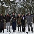 Les 1ères à l'afrat pour le stage nordique