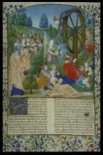 ROUE DE FORTUNE Glasgow Library Ms Boccaccio Fall of Princes France 1467