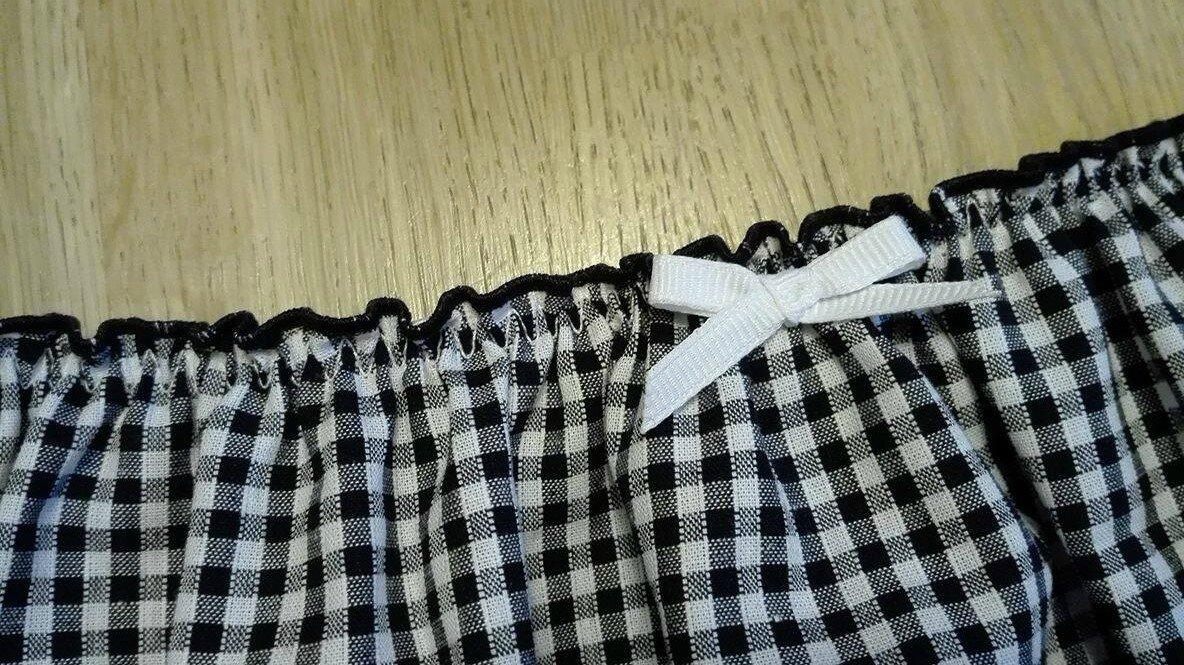 Culotte CHARLOTTE en coton vichy noir et blanc - taille M (2)