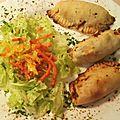 Empanadas de légumes aux pst (protéines de soja texturées)
