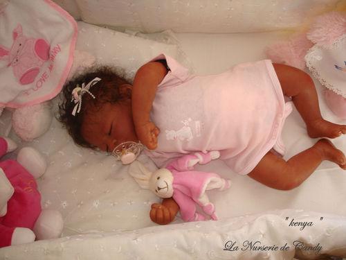 fille bebe reborn noir