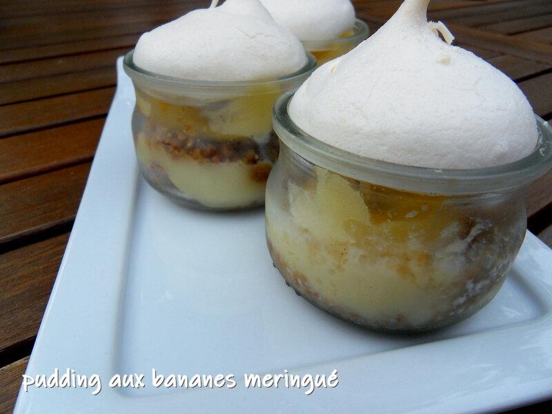 pudding aux bananes meringué1
