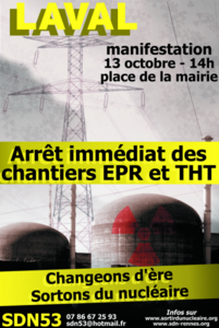manifestation anti THT EPR Laval 13 octobre 2012