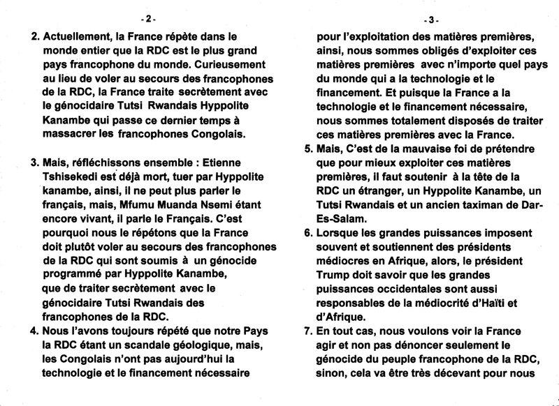 LE GRAND MAITRE DE LA SAGESSE KONGO MFUMU MUANDA NSEMI PARLE DU GENOCIDE DES FRANCOPHONES DE LA RDC b