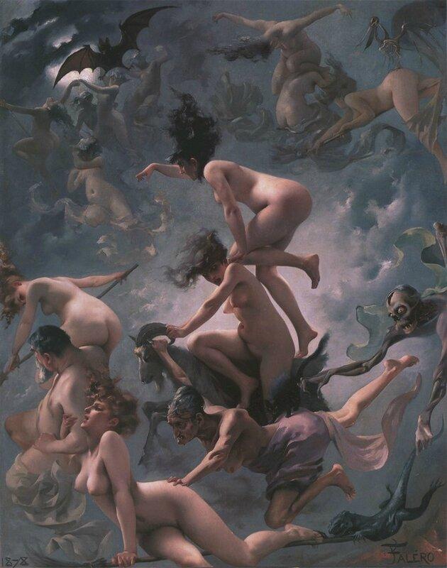 Witches going to their Sabbath by Luis Ricardo Falero