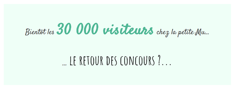 Annonce concours 30 000