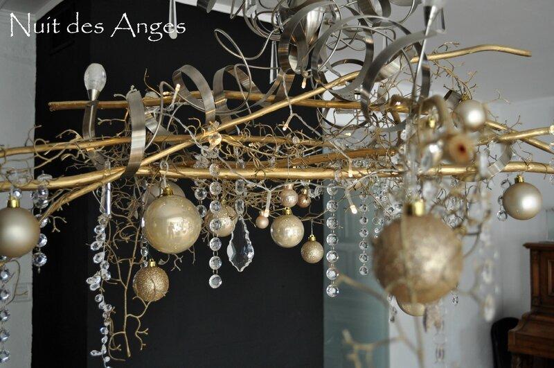 Nuit des anges décoratrice décoration de table dorée 009