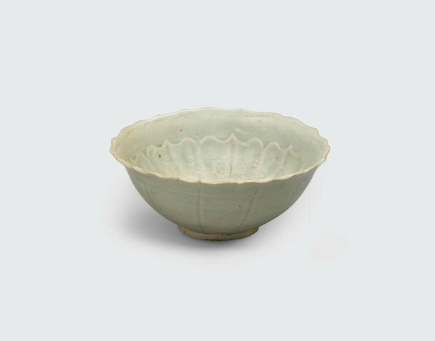 A celadon bowl with impressed decoration, Trần dynasty, 14th century