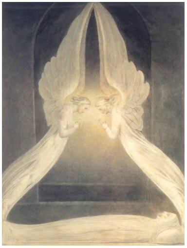 tombeau vide et arche d'alliance, William Blake, 1805
