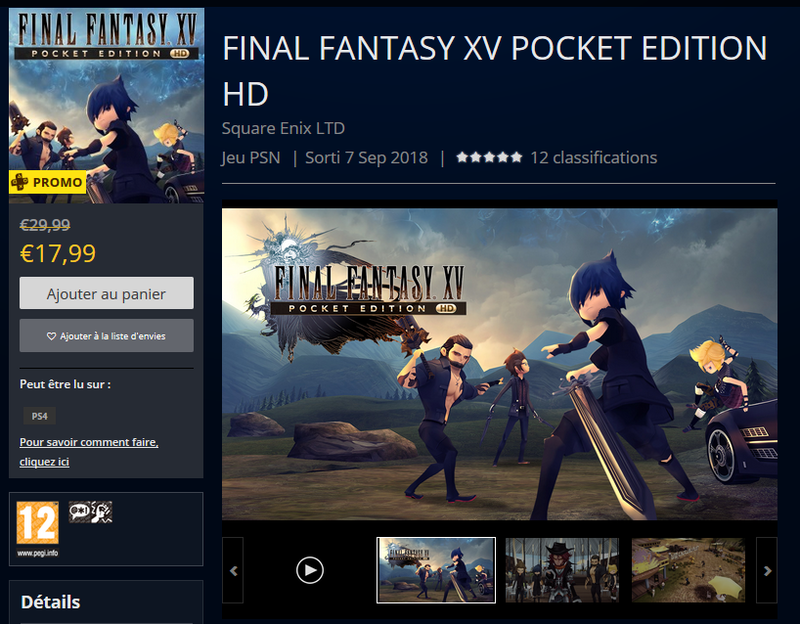 FFXV Pocket PS4