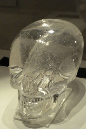 Rock crystal skull, Late 19th century AD, British Museum
