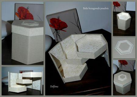 Boîte cartonnage hexagonale poudrée