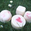 lavande et copeaux de savon colorés