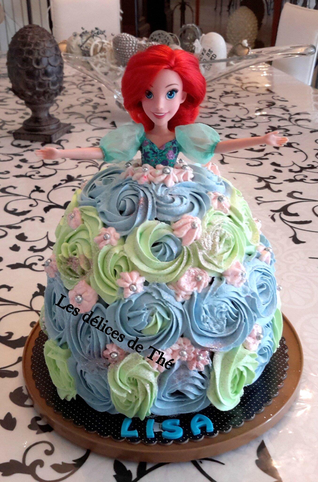 Gâteau Poupée Ariel 3D