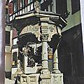 Obernai - puits aux 6 seaux datée 1985