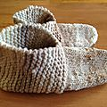 Simple Garter Stitch Slippers